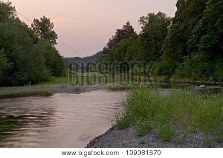 Russian River Through Healdsburg