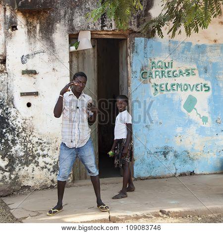 African Kids Making Fun