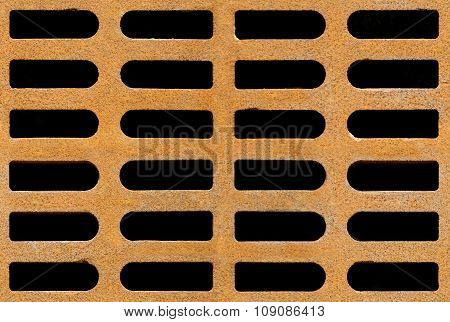 Rusty Drain Grate Seamless Background Texture