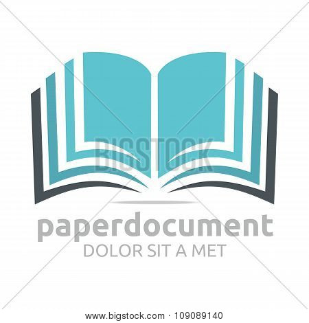 Logo book document lesson studies dictionary icon vector