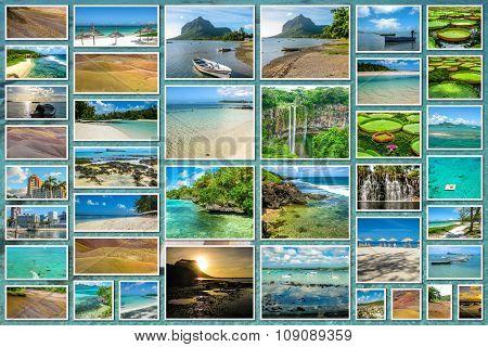 Mauritius landmark collage