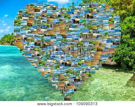 Mauritius tropical sea collage