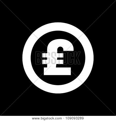 The pound sterling icon. Cash and money, wealth, payment symbol. Flat Vector illustration poster