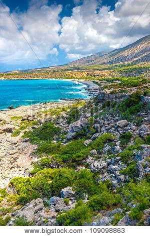 Rocky Coast Of Crete, Greece