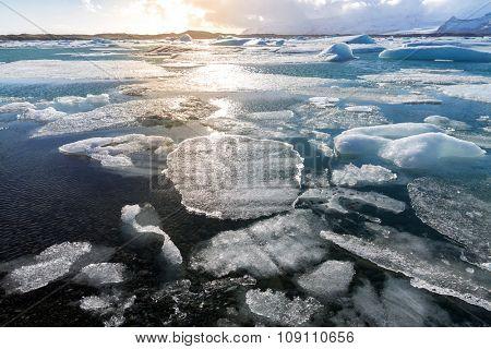 Vatnajokull Glacier Jokulsarlon lagoon Iceland