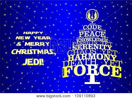 Christmas new year tree for real Jedi
