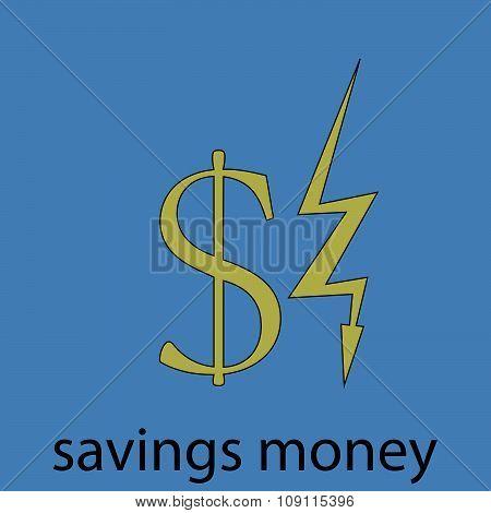Saving money economy icon