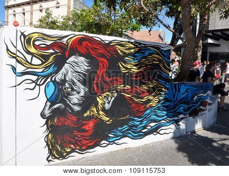 John Lennon in Vivid Color: Mural in Fremantle, Western Australia