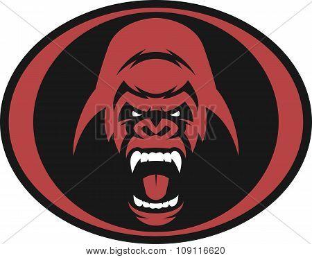 Angry gorilla symbol