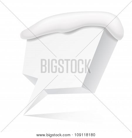White 3d speech bubble for your text