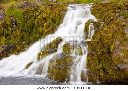Small Part Of Dynjandi Waterfall - Iceland