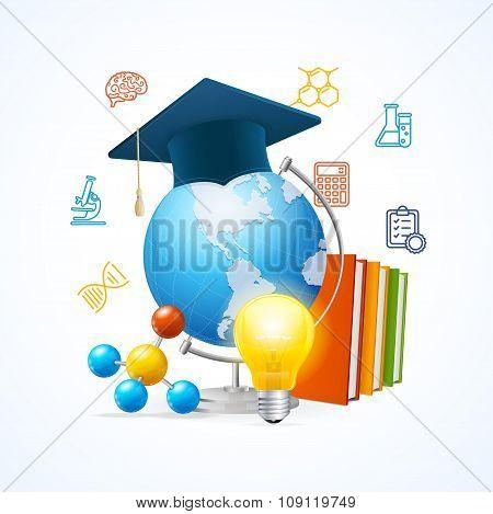 Education Sciense Concept. Vector