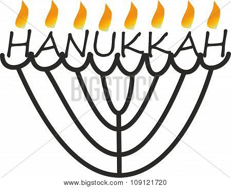 abstract hanukkah with flame