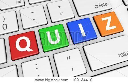 Quiz Sign Computer Keys