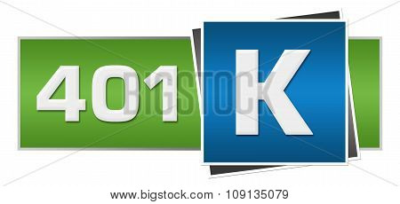 Retirement Investment 401k Green Blue Horizontal