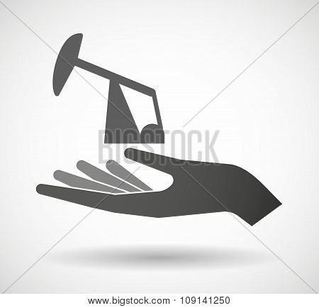 Isolated Vector Hand Giving A Horsehead Pump