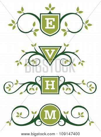 Decorative Emblem or Monogram Designs