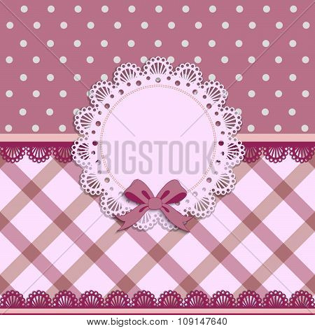 Beautiful Background With A Cloth Napkin And Bow
