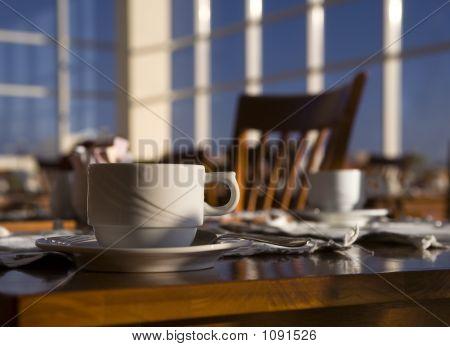 Morning Positive Still-Life In A Cafe.