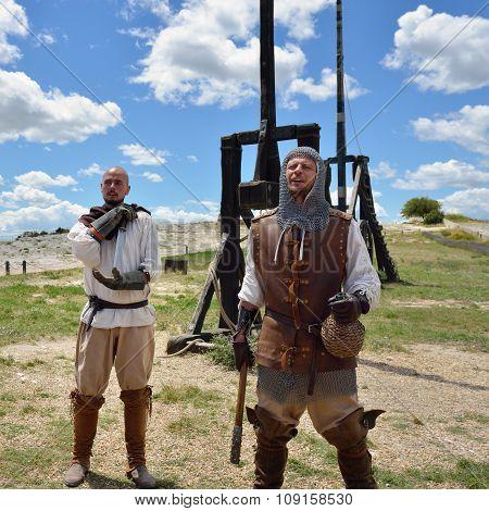 Les Baux, Medieval Warriors, France