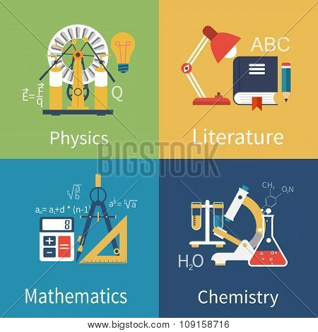 Physics, Chemistry, Math, Literature