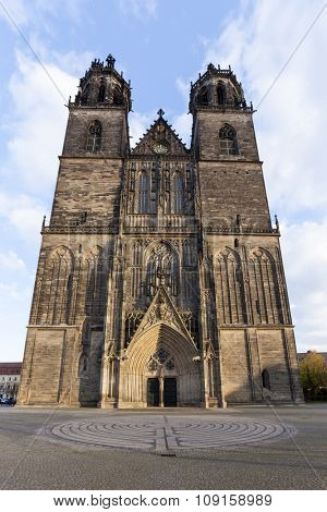 Magdeburger Dom - gothic cathedral at Magdeburg, Germany