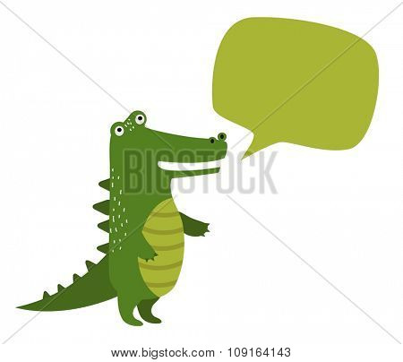 Vector cartoon rocodile holdingclean banner board. Wild vector crocodile. Jungle green crocodile. Wild crocodile silhouette. Vector animals. Crocodile holding board. Vector animals