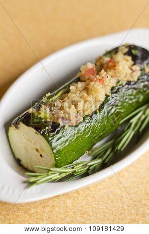 Quinoa Stuffed Zucchini