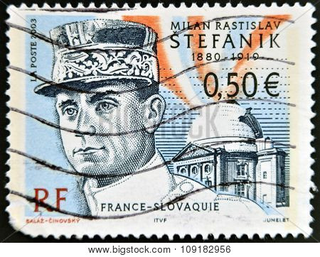 FRANCE - CIRCA 2003: stamp printed in France shows Stefanik circa 2003