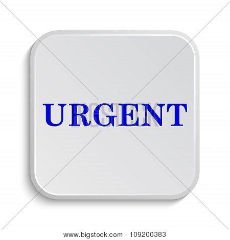 Urgent icon. Internet button on white background. poster