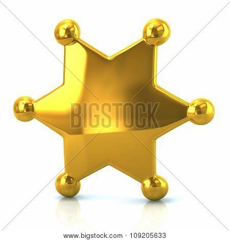 Golden Sheriff Star Badge