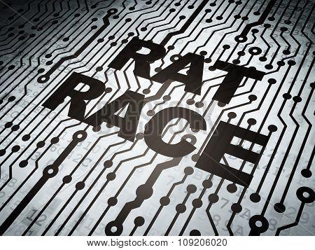 Politics concept: circuit board with Rat Race