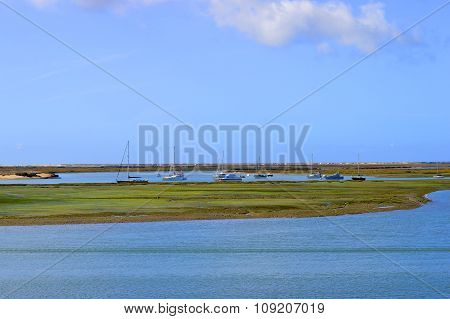 Ria Formosa nature reserve in the Algarve