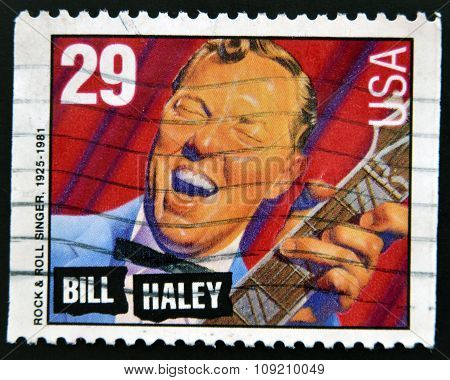 A stamp printed in USA shows image of the William John Clifton