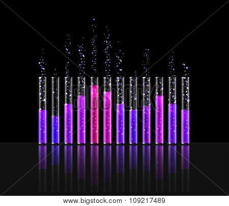 illustration of music in transparent equaliser bar