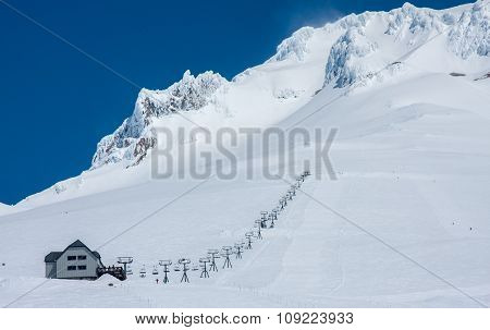 Ski-lift In Mt. Hood