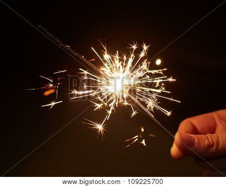 Christmas and newyear party sparkler