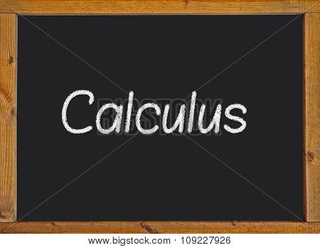 Calculus written on a blackboard