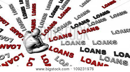 Suffering From Loans with a Victim Crying Male