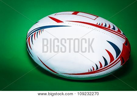 white rugby ball