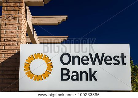 Onewest Bank Exterior And Sign