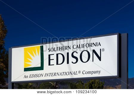 Southern California Edison Sign And Logo