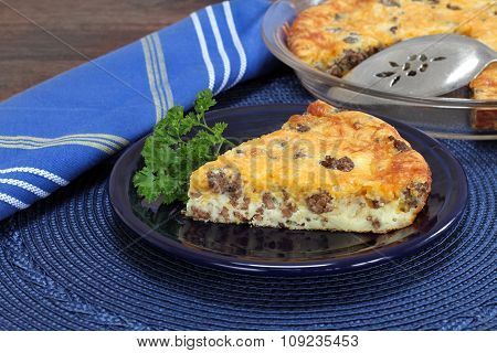 Cheddar Cheese And Beef Pie