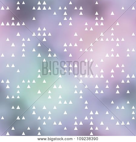 Seamless Pattern With Triangles Motif. Pastel Colored Background