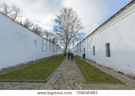 Suzdal, Russia -06.11.2015. The prison on  territory of   St. Euthymius monastery in Suzdal. Golden