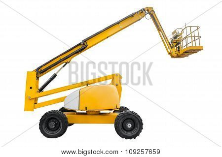 poster of aerial platform isolated on a white background