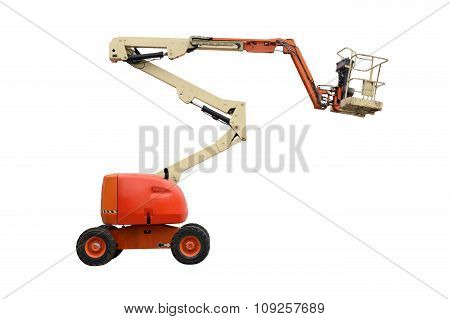 aerial platform isolated on a white background poster