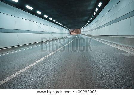 City Road Tunnel Of Night Scene