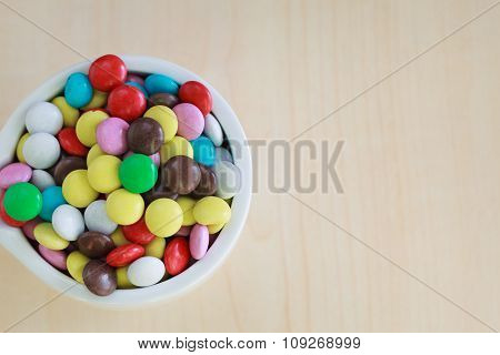 Sweet Color Candy In The Bowl