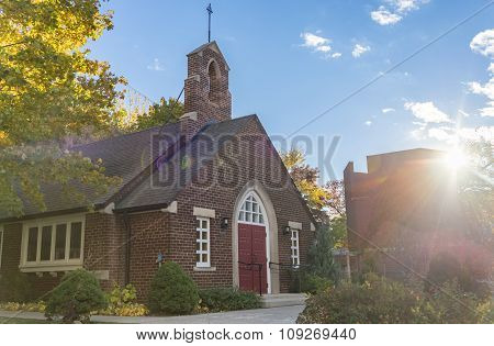Vintage Old Church in Toronto Neighborhood,Canada